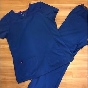 HEARTSOUL scrub set Royal Blue Large